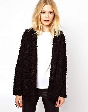 Image 1 ofRiver Island Oversized Faux Fur Coat