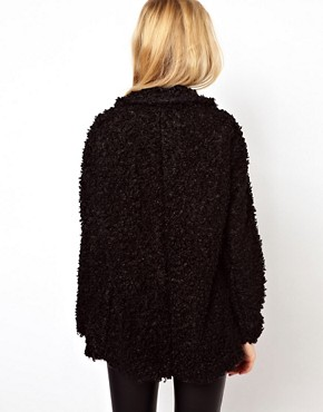 Image 2 ofRiver Island Oversized Faux Fur Coat