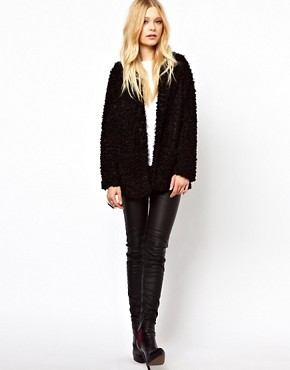 Image 4 ofRiver Island Oversized Faux Fur Coat
