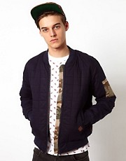 Bellfield Bomber Jacket With Camo Pocket