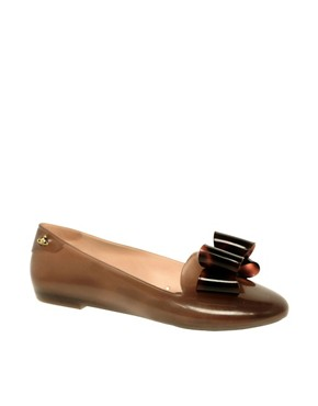 Image 1 ofVivienne Westwood for Melissa Virtue Flat Bow Slipper Shoes