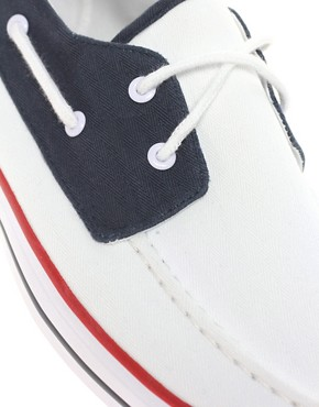 Image 2 ofASOS Boat Shoes in Tricolour