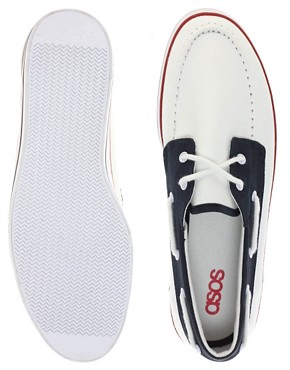 Image 4 ofASOS Boat Shoes in Tricolour