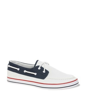 Image 1 ofASOS Boat Shoes in Tricolour