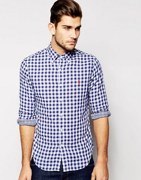 Polo Ralph Lauren Shirt in Slim Fit Double Faced Check
