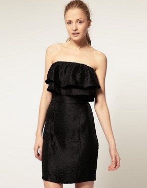 Image 1 ofThread Social Strapless Dress With Ruffles