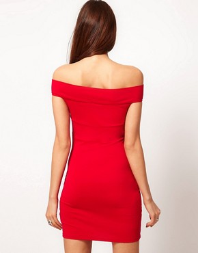 Image 2 ofASOS Bodycon Dress with Off Shoulder