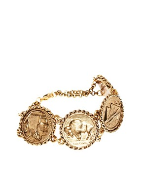 Image 1 of Low Luv By Erin Wasson Rope Wrapped Coin Bracelet