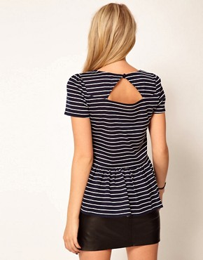 Image 2 ofOasis Stripe Peplum Top