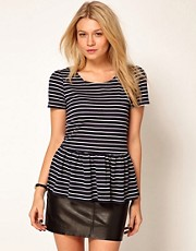Oasis Stripe Peplum Top