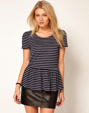 Image 1 ofOasis Stripe Peplum Top