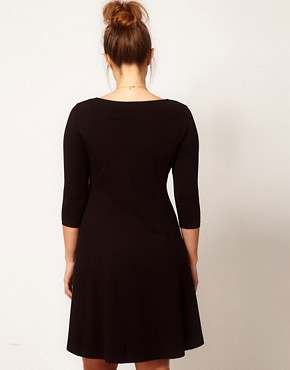 Image 2 ofASOS CURVE Exclusive Skater Dress with 3/4 Sleeve