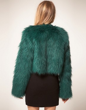 Image 2 of Motel Freya Faux Fur Cropped Coat