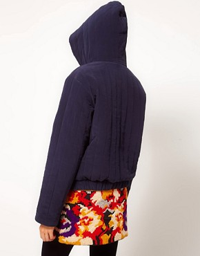 Image 2 ofYMC Reversible Cara Quilted Jacket in Silk