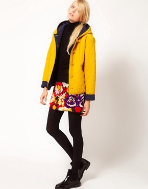 Image 4 ofYMC Reversible Cara Quilted Jacket in Silk