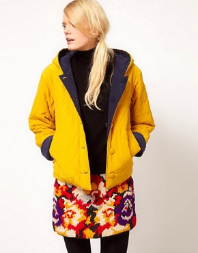 Image 1 ofYMC Reversible Cara Quilted Jacket in Silk