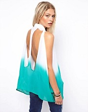 ASOS Shirt In Dip Dye With Cutout Back