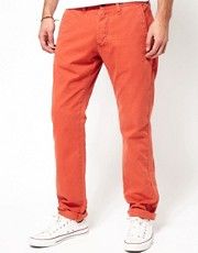 Edwin - Cadet 55 - Chino in twill regular stretti in fondo
