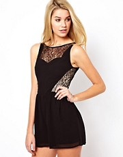 Oasis Lace Insert Playsuit