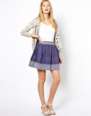 NW3 Keats Skirt with Embroidered Hem