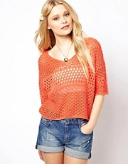 River Island Stitch Crop Jumper