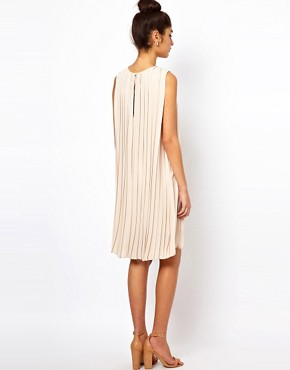 Image 2 ofASOS Shift Dress With Pleated Drape