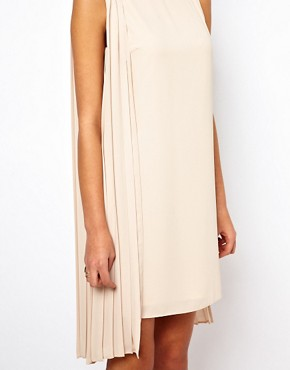 Image 3 ofASOS Shift Dress With Pleated Drape