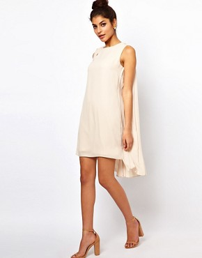 Image 4 ofASOS Shift Dress With Pleated Drape