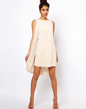 Image 1 ofASOS Shift Dress With Pleated Drape