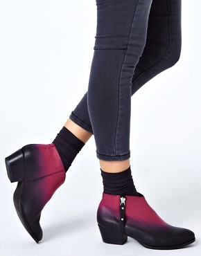 Image 3 ofMiista Kia Black Heeled Zip Ankle Boots