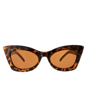 Image 2 ofASOS Tort Cat Eye Sunglasses