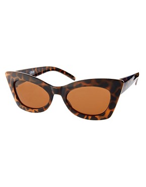Image 1 ofASOS Tort Cat Eye Sunglasses