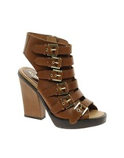 ALDO Zosia Tan Buckle Strap Heeled Sandals