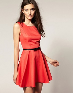 Image 2 ofVero Moda Contrast Open Back Skater Dress