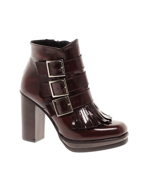 Image 1 ofASOS ALLIANCE Leather Ankle Boots