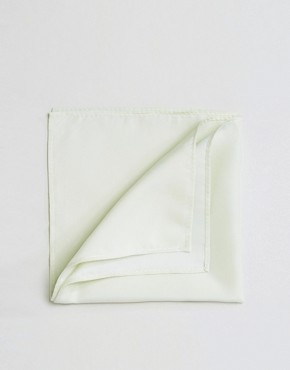 ASOS WEDDING Pocket Square In Light Stone