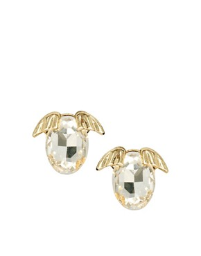 Image 1 ofASOS Puppy Crystal Stud Earrings