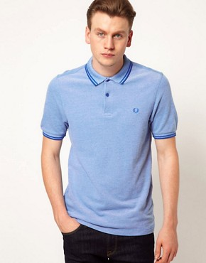 Image 1 ofFred Perry Slim Polo with Fit Twin Tip