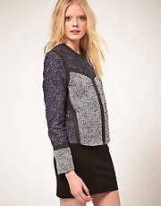 Chaqueta de tweed y goma de Markus Lupfer