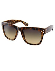 Mango Statement Frame Diamante Detail Sunglasses