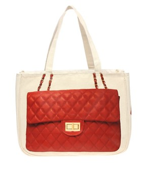 Image 1 ofThursday Friday Diamonds Red Tote