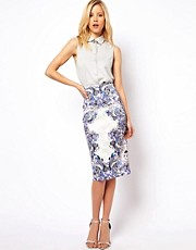 ASOS Pencil Skirt in Tattoo Print
