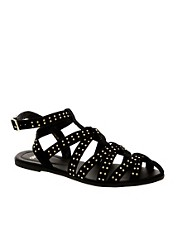 ASOS FALCON Studded Gladiator Flat Sandals