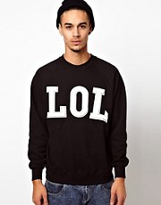 Reclaimed Vintage Sweat with LOL Embroidery