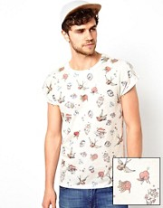 ASOS T-Shirt With All Over Tattoo Print