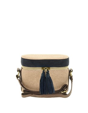 Image 1 ofASOS Snake Tassel Across Body Bag