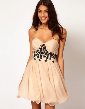 Image 1 ofOpulence England Chiffon Bandeau Flower Dress