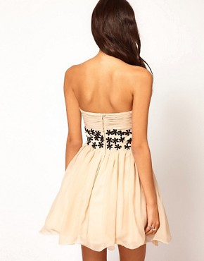 Image 2 ofOpulence England Chiffon Bandeau Flower Dress