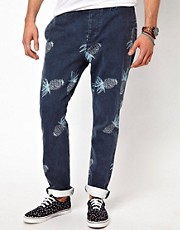 Chinos con estampado de pias de ASOS