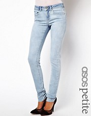 ASOS PETITE Elgin Supersoft Skinny Jeans in Bleach Wash